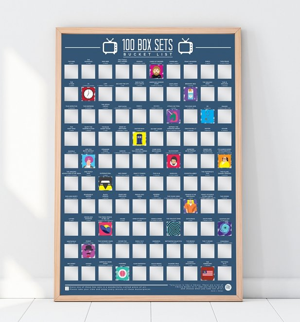 An image of 100 Box Sets Bucket List Scratch Poster