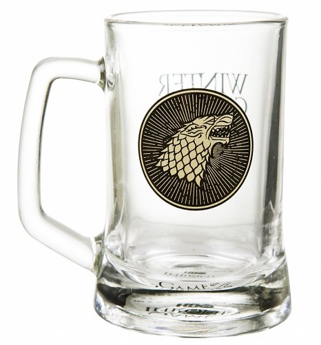 An image of Game Of Thrones House Stark Glass Stein
