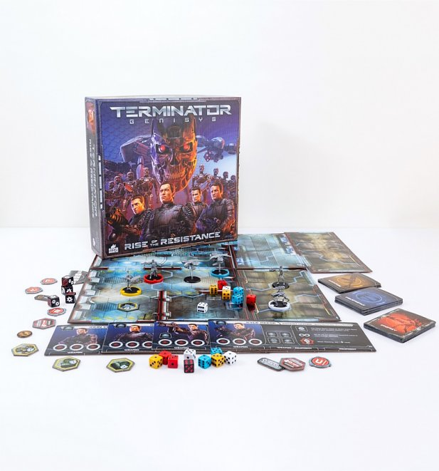 An image of Terminator Genisys Rise Of The Resistance Board Game by Riverhorse