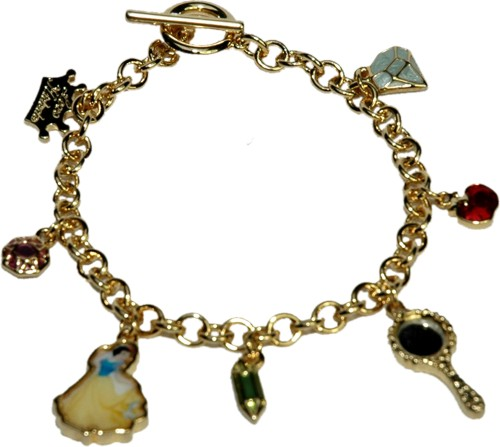 14 ct gold plate snow white charm bracelet from disney